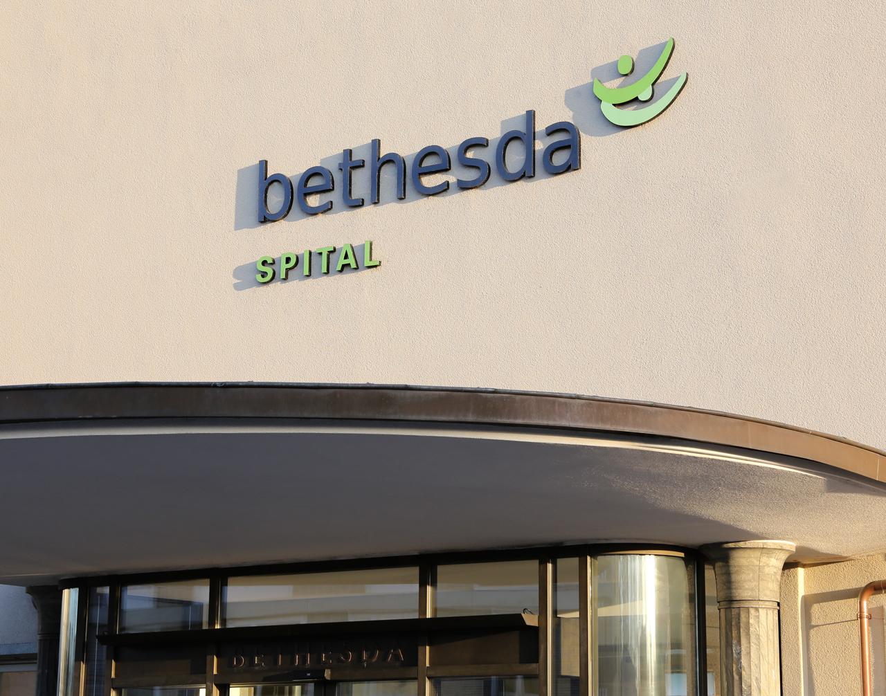 Gebäudebeschriftung Bethesda Spital - scanu communications