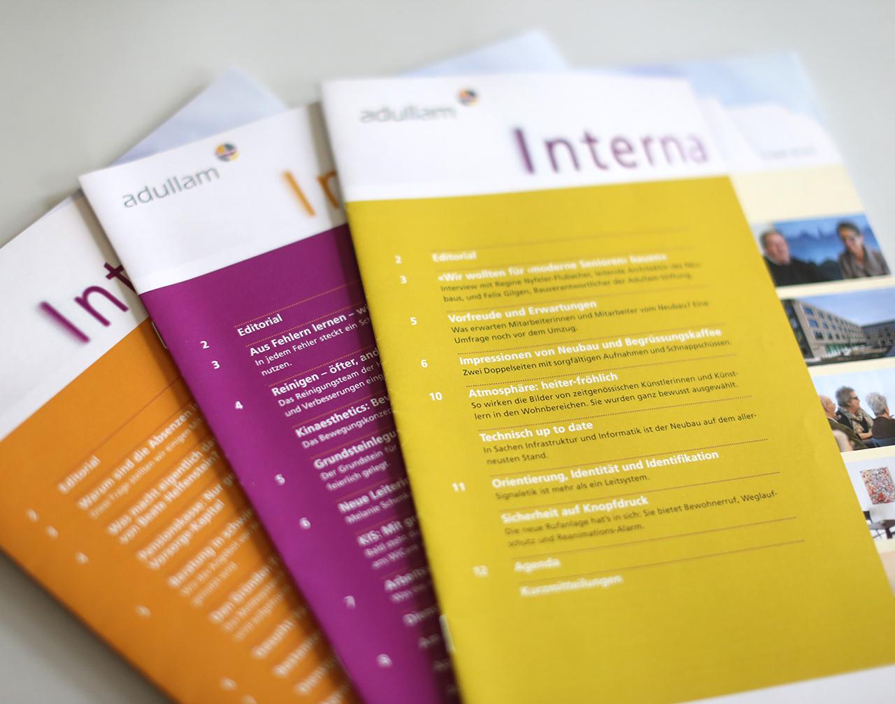 Interna (internes Periodika für Adullam) - scanu communications