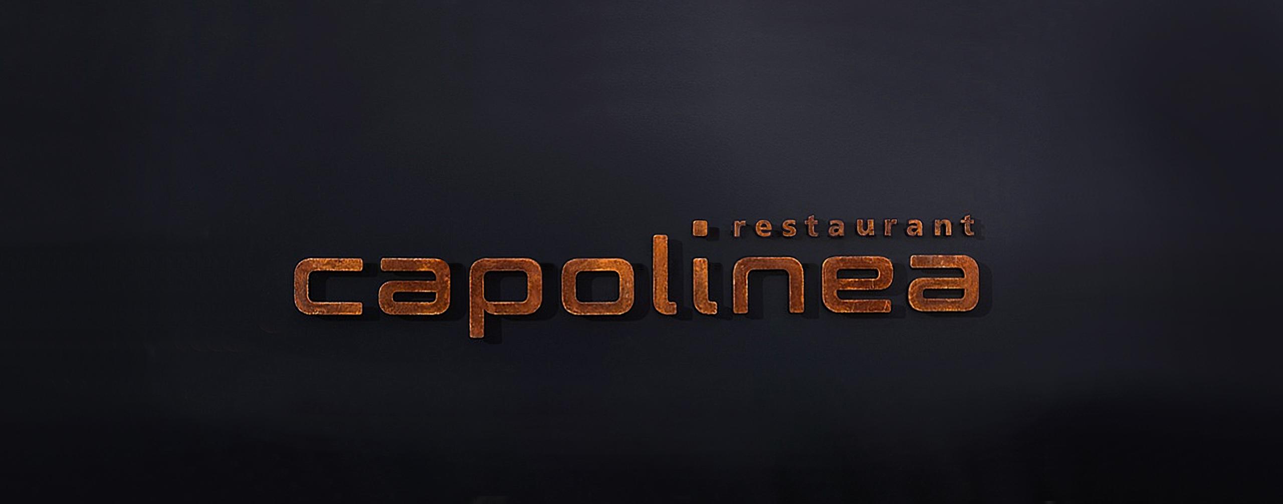 Fassadenbeschriftung Restaurant Capolinea - scanu communications